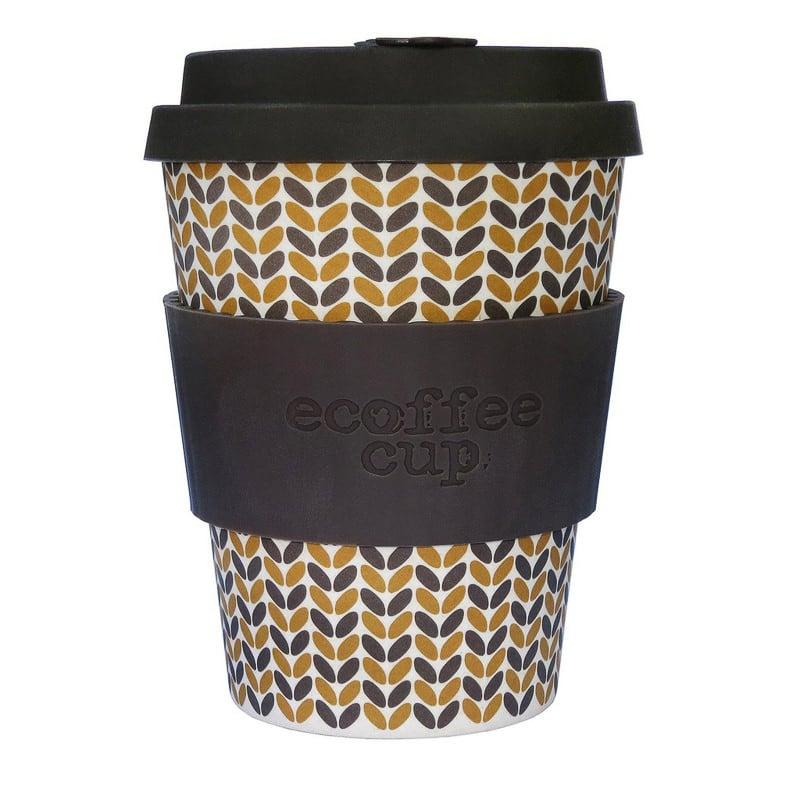 Reusable bamboo 12oz ecoffee cup threadneedle