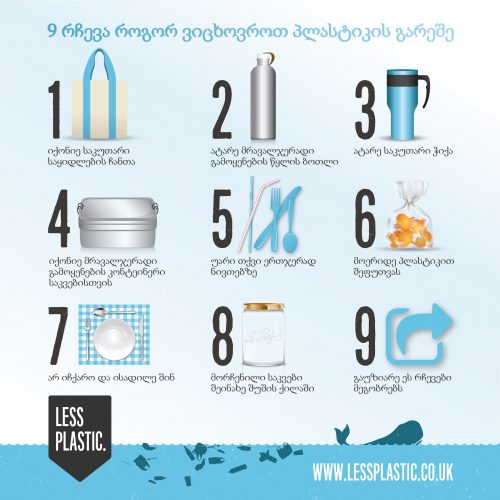 9 tips for living with less plastic in Georgian