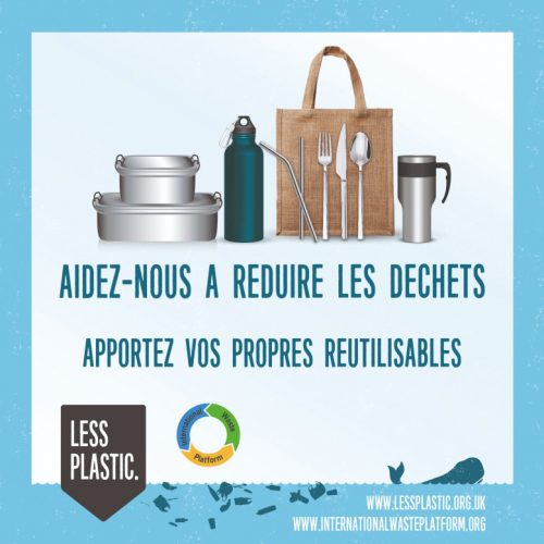 Global campaign to encourage bring your own reusables - French