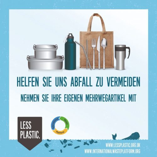 Global campaign to encourage bring your own reusables - German