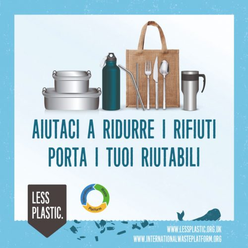 Global campaign to encourage bring your own reusables - Italian