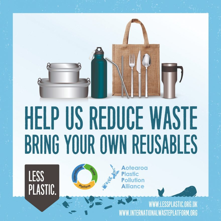 Global campaign to encourage bring your own reusables - New Zealand