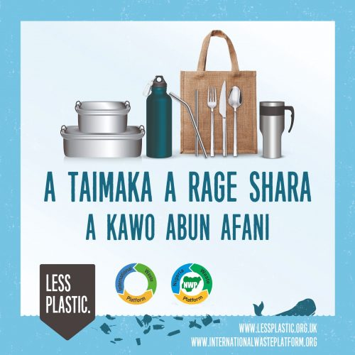 Global campaign to encourage bring your own reusables - Nigeria Hausa