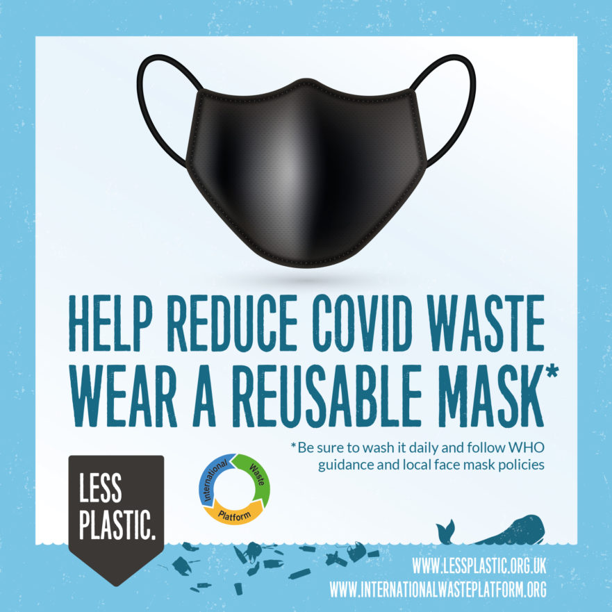 reduce single-use covid face masks