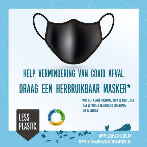 reusable face mask in Dutch